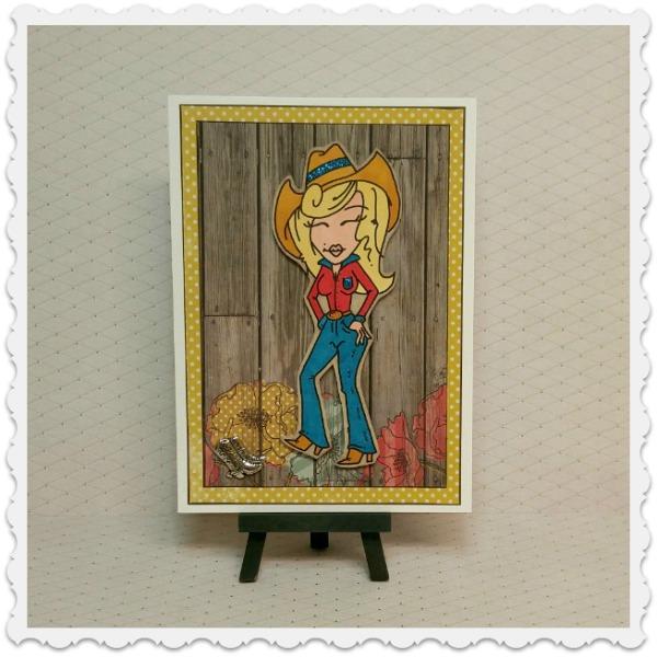 carte de souhaits cowgirl
