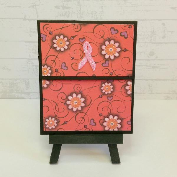 pochette carte-cadeau thème cancer du sein