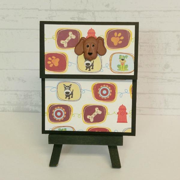 pochette carte-cadeau thème chiens