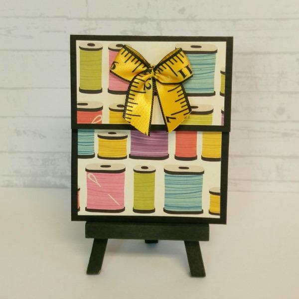 pochette carte-cadeau thème couture