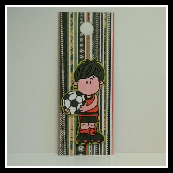 accroche-porte joueur de soccer