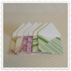 mini enveloppes collection marbrée