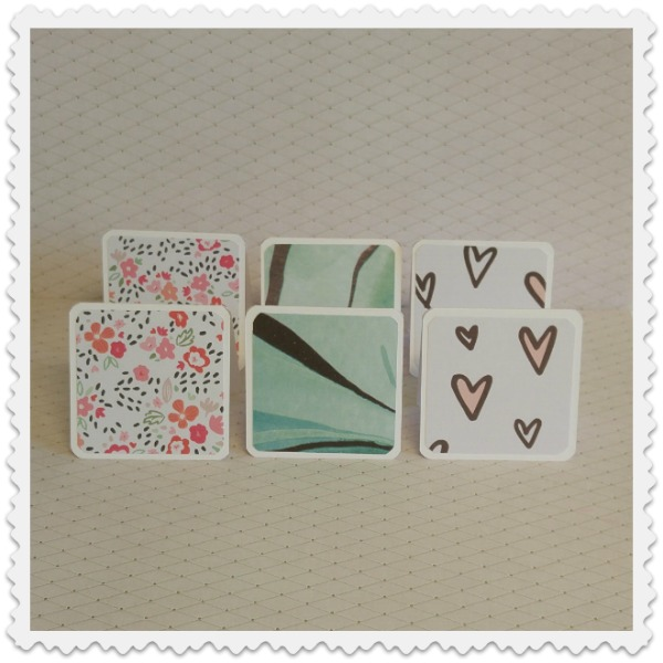 mini cartes collection romantique