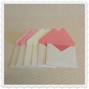 mini enveloppes collection romantique