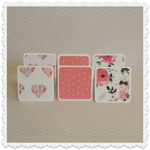 mini cartes collection romantique
